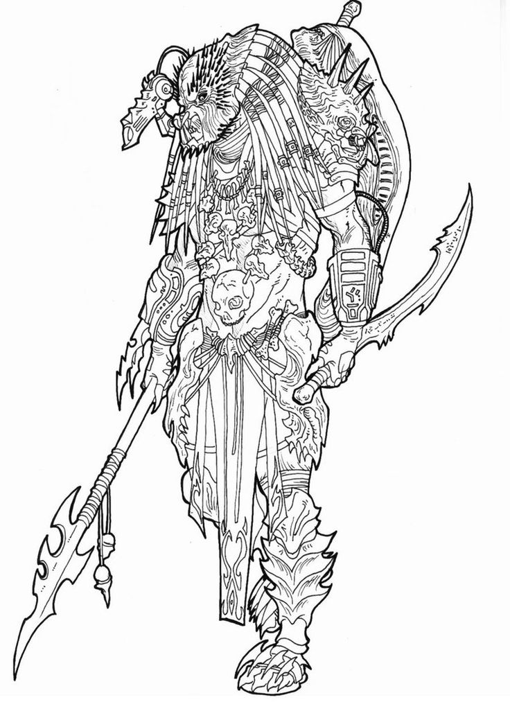 67 best predator coloring pages images on Pinterest | Aliens ...