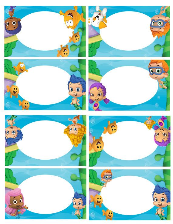 Bubble Guppies Food Tents Bubble Guppies by PrintableSolution