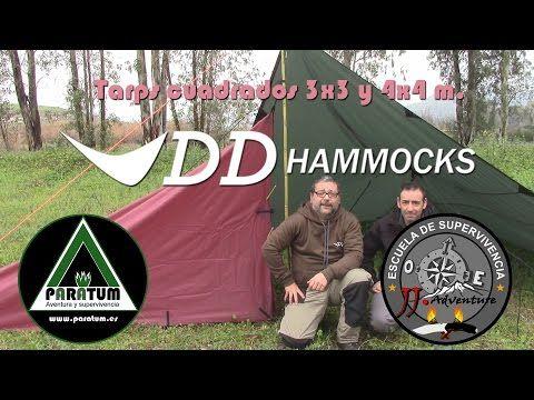 DD Hammocks Tarp 3x3 y Tarp 4x4. Construyendo un refugio al estilo JJ Adventure - YouTube