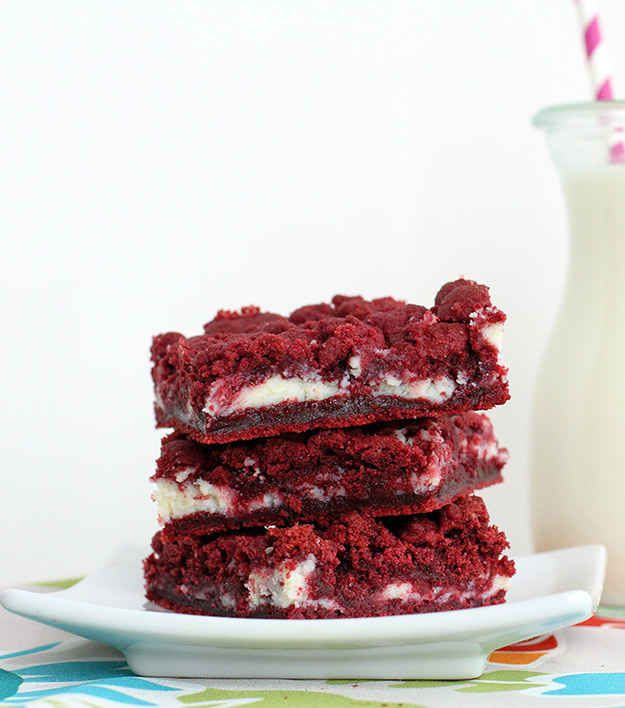 Cream Cheese-Filled Red Velvet Cake Bars | 23 Easy Dessert Bars That Will Leave You Drooling