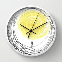 Wall Clock featuring You are My Sunshine by RokinRonda