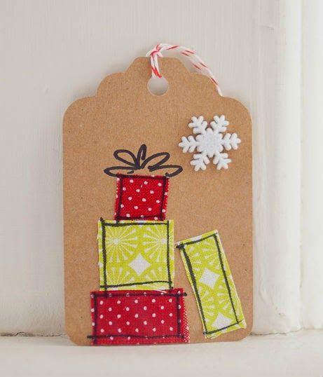 Ideias para Tags de Natal - Veja o passo a passo desta Tag aqui: http://lembrancassoltas.blogspot.pt/2014/11/ideias-para-tags-de-natal.html