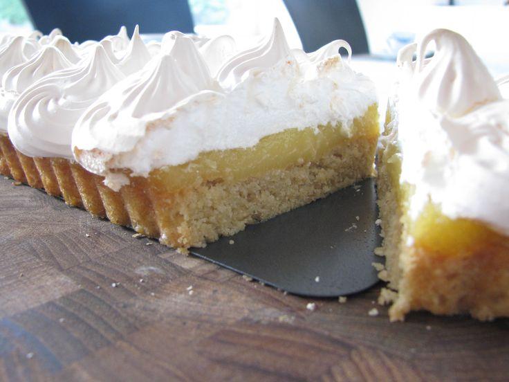 Gluten- og laktosefri citrontærte med marengslåg