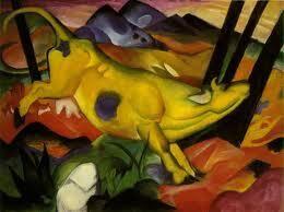 フランツ・マルク『黄色い牛』(1912)  Franz Marc -Die gelbe Kuh #表現主義 #青騎士