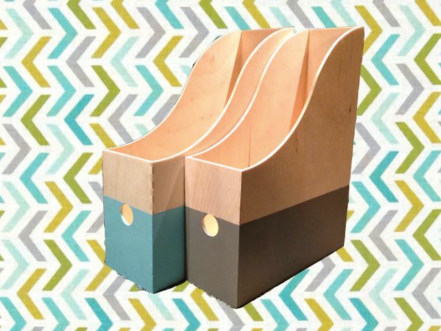 Painted knuff files - expect to use paint, wood stain, and possibly papers