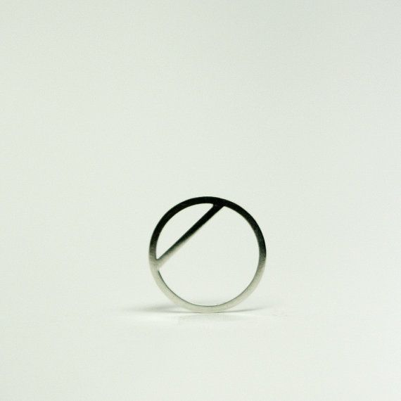 Simple silver statement ring