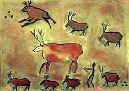 Steinzeit Kunst Höhlenmalerei Techniken