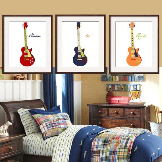 Guitar nursery theme