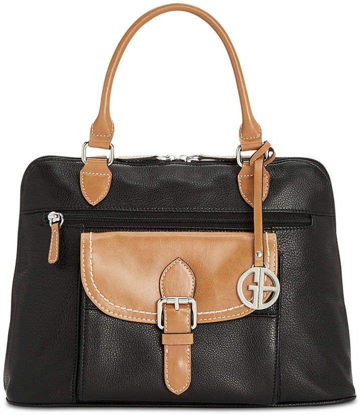 0059e149355 Giani Bernini Pebble Leather Medium Satchel, Created for Macy s   Leather  Handbags AJ   Pinterest   Giani bernini, Pebbled leather and Satchels