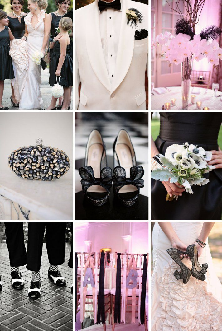 Black And Blush Wedding Chic Theme Ideas Womens Inspirations