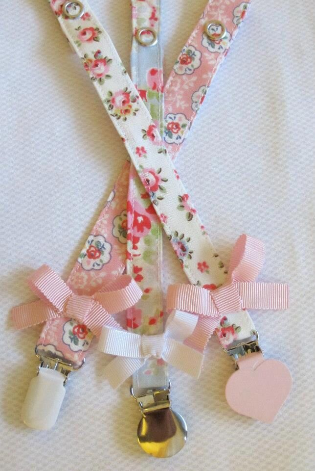 Pacifier/binky holder straps