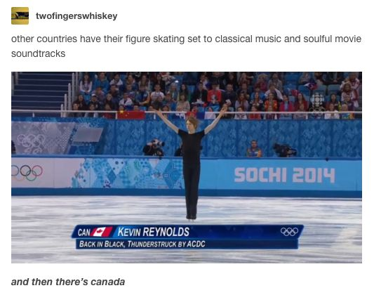 Canadians have their Winter Olympic traditions. | 15 Stereotypes About Canada, Seriously Debunked By Tumblr