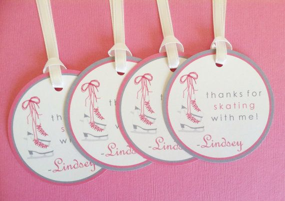 Ice Skating Favor Tags  Birthday Party Decorations by LittleMavens, $0.90