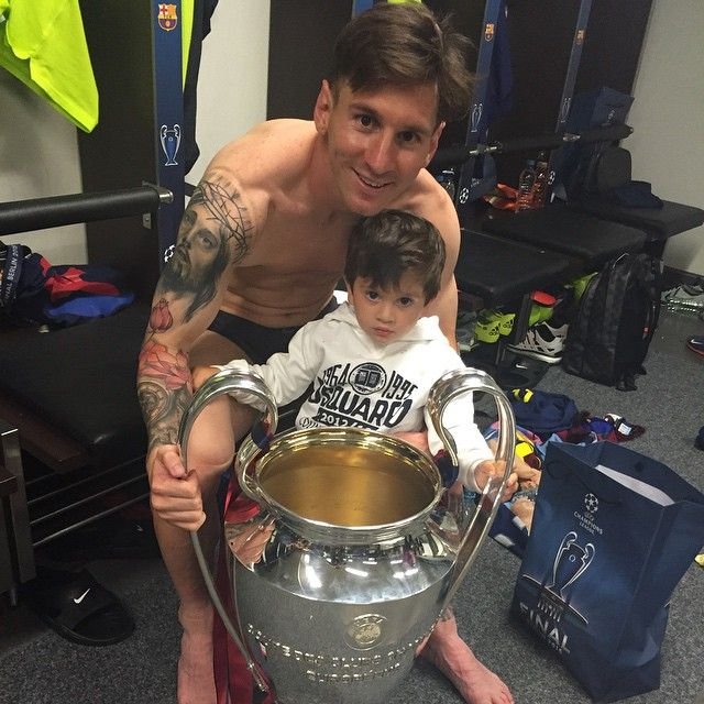 Leo #Messi con la Champions