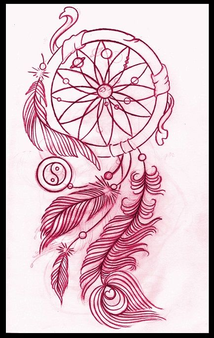 Tattoo Idea Designs 3 awesome tattoo idea of a wolf skeleton Dreamcatcher Tattoo Design By On Deviantart I Absolutely Love How The Sun And Planets Are In The Center Such An Awesome Idea Possible Tatt Design