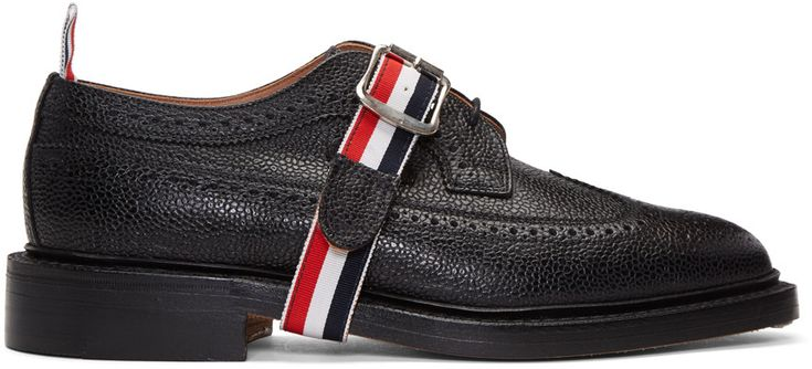 Thom Browne - Black Classic Longwing Strap Brogues