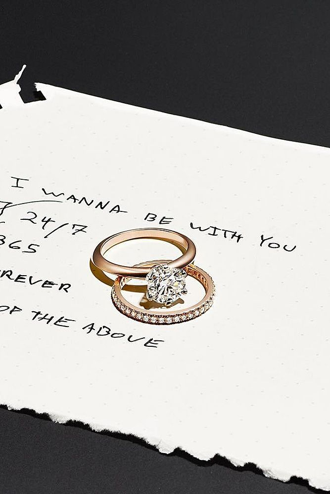 18 Tiffany Engagement Rings That Will Totally Inspire You ❤️ tiffany engagement rings wedding set round cut solitaire gold ❤️ More on the blog: https://ohsoperfectproposal.com/tiffany-engagement-rings/