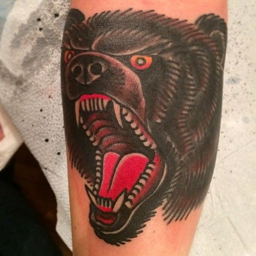 17 best images about bull bear tattoo on pinterest for Traditional bull tattoo