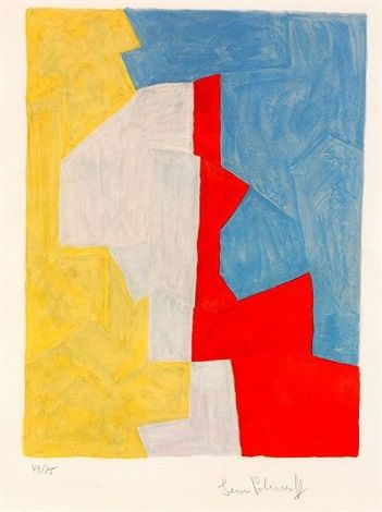 Composition jaune rouge et bleue by Serge Poliakoff