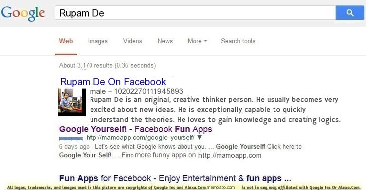 Google Yourself and Find Out What Google Says About You!
