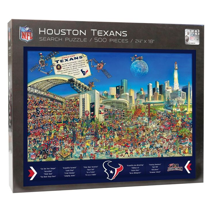 NFL Houston Texans 500pc Find Joe Journeyman Puzzle