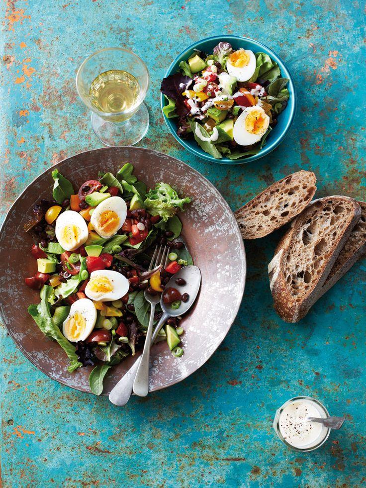 Wenn ihr einen Nizza-Salat mal ohne Thunfisch oder Sardellen zubereiten möchtet, ist dieses Rezept perfekt für euch. #nizza #salat #vegetarisch #edeka