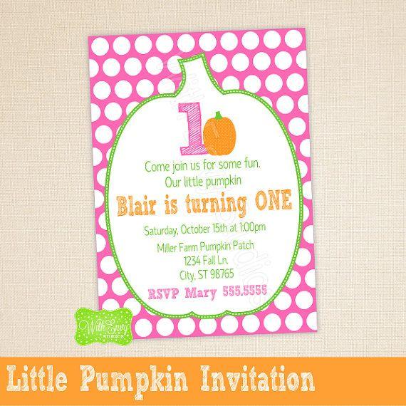 Little Pumpkin Party Invitation Little Pumpkin by WithEnvyParties, $11.00