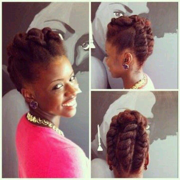 Jumbo Flat Twist Updo Long Hair Girl Hair Styles