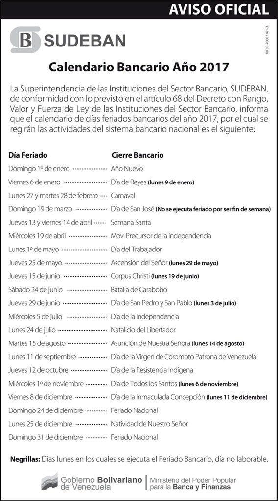 Calendario-Bancario-Venezuela-2017