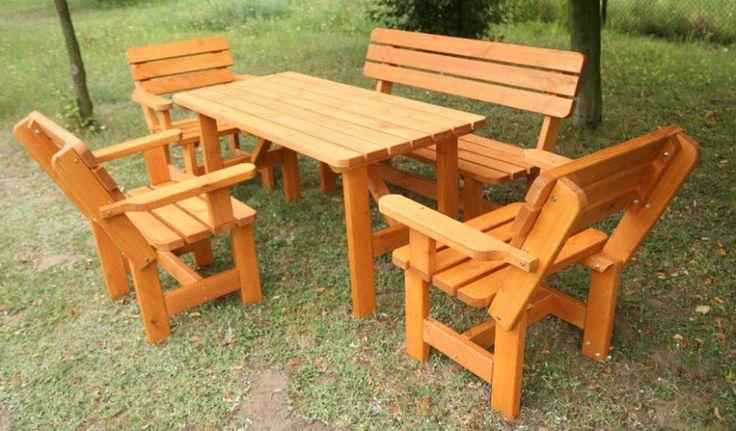 Zestaw mebli ogrodowych BB-Z2 - stół + ławka + 3 fotele - Meble ogrodowe, cena 750 zł