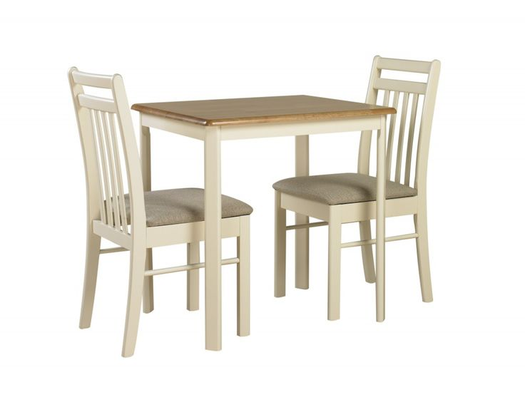 Ascot Compact #Dining #Table and 2 #Chairs in Natural Oak / Ivory - Slight Second Was £149.99 NOW £95!