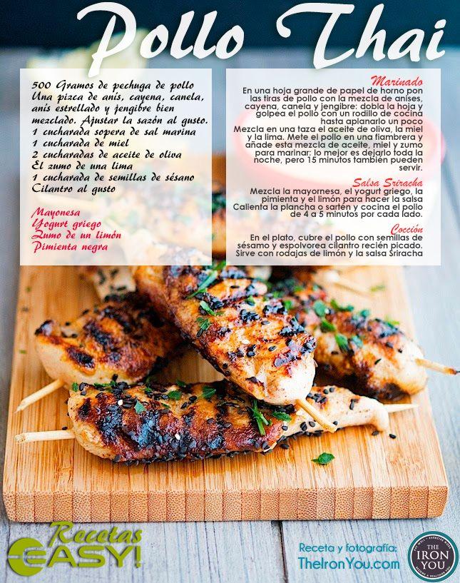 Pollo Thai fácil