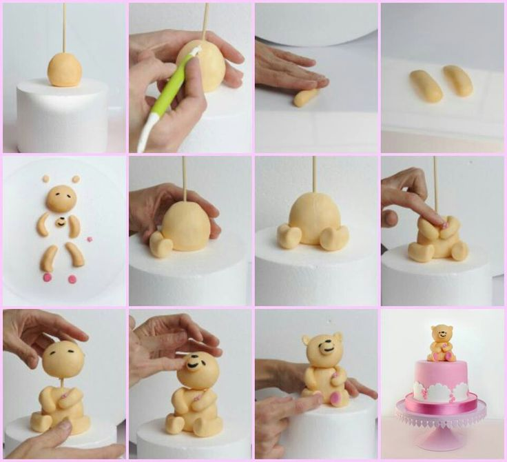 Fondant Cake Decorating Step By Step : 99 best images about Fondant: Teddy Bears on Pinterest ...