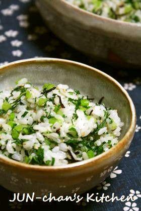 ご飯おかわり*大根葉の菜飯