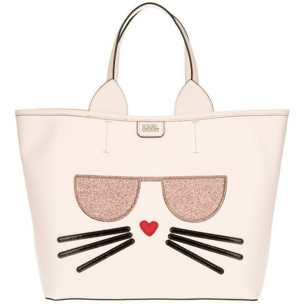 Karl Lagerfeld K/Kocktail Choupette Shopper Sea Shell  in rose, Handle... ($345) ❤ liked on Polyvore featuring bags, handbags, rose, purse pouch, top handle bags, shell pouch, pouch purse and man pouch bag
