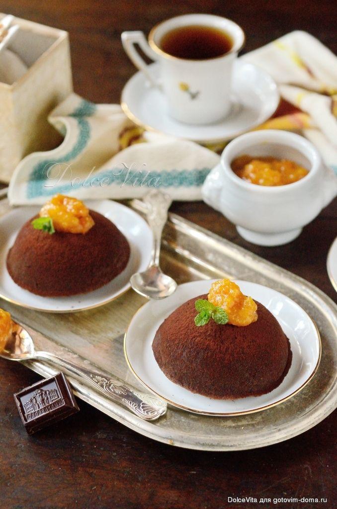 Chocolate pudding - Шоколадный пудинг (без яиц и молока)