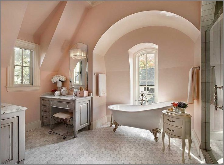 French Furniture Interior Design with recessed downlights and cream ceramic floor also classic chandelier and closet toilet and roller blinds