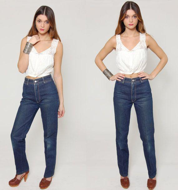 Vintage 80s JORDACHE  Jeans HIGH WAIST Blue Denim Jeans by LotusvintageNY