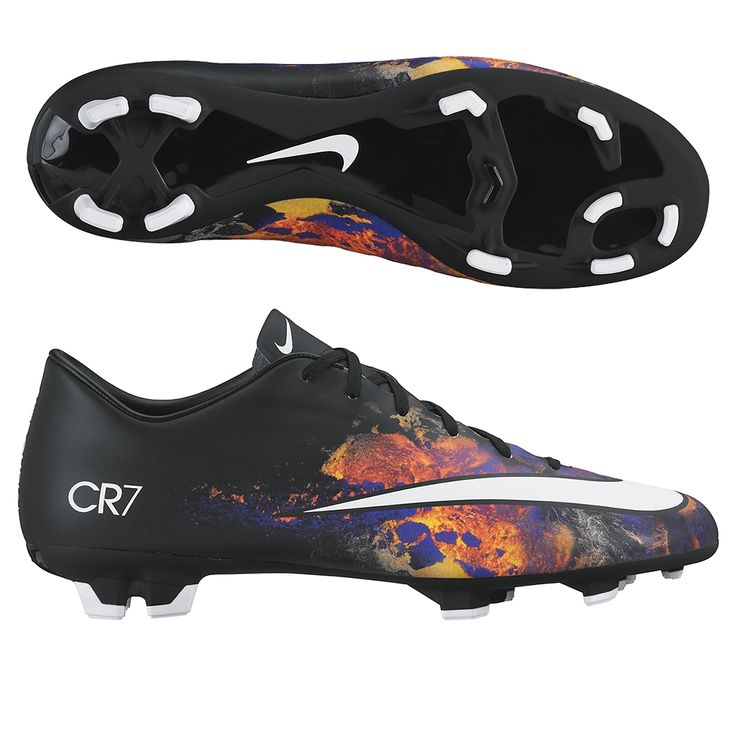 Everything about these cleats screams SPEED! The CR7 Savage Beauty soccer cleats use a lava design to help you play like you are on fire. Get the Nike Mercurial Victory CR7 soccer cleats to play fast. Get all your Cristiano Ronaldo soccer cleats, shoes, and gear today at SoccerCorner.com!  http://www.soccercorner.com/Nike-Mercurial-Victory-V-CR7-FG-Soccer-Cleats-p/sm-ni684867-018.htm