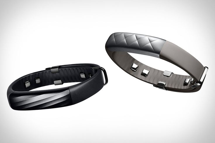Jawbone Up3 - a health and fitness tracker. Uses tri-axis accelerometer, bioimpedance sensors, skin sensors and ambient temperature sensor to track heart rate, sleep stages, activities and workouts.