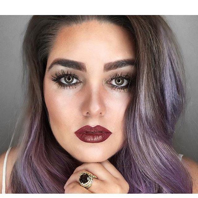 Gorgeous smokey Violet  Repost via @baileelikesthings 💜 #lusthairnz #purplehair #crueltyfreebeauty