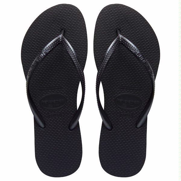 The Slim features a sleek metallic strap for a fresh, on-trend look. A tonal Havaianas logo and our signature textured footbed provide style and comfort. - Thong style - Cushioned footbed with texture