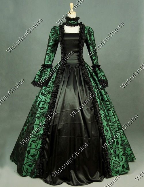 Victorian Dress Georgian Period Gown Reenactment Clothing Theatre Steampunk Cosplay