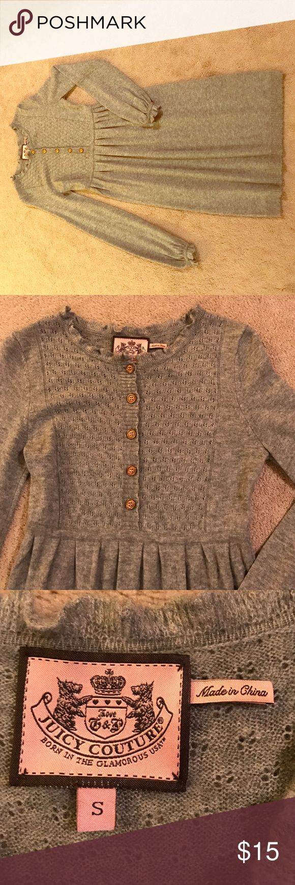 Juicy Couture sweater dress Gray sweater dress made by Juicy Couture.  Cute & comfy, I just don't wear it enough!  Size small. Juicy Couture Dresses
