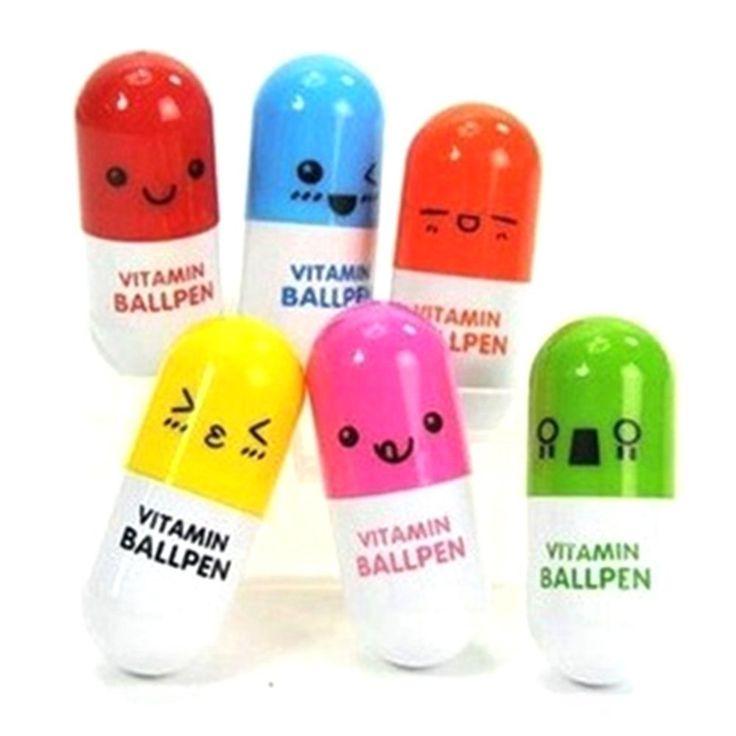 6pcs Mini Retractable Pill Ball Point Pen Micro Tiny Cute Novelty Capsule Ballpen Favor Gift Telescopic (Random Colour): Amazon.co.uk: Office Products