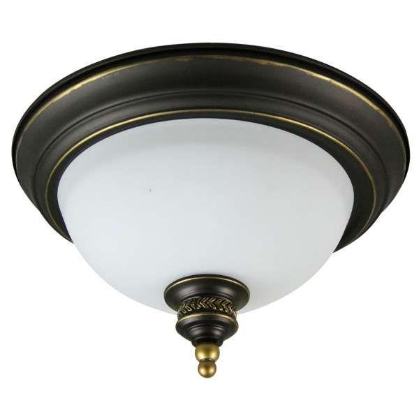 Klasyczna LAMPA sufitowa ATLANTA 12-43078 Candellux OPRAWA szklana PLAFON patyna biały