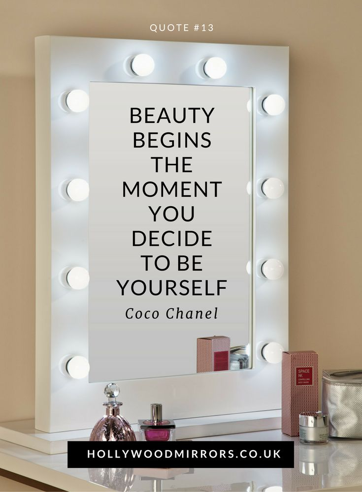 Beauty begins the moment you decide to be yourself   Beauty Quotes   Makeup Quotes   Inspirational Quotes  For flawless makeup & hair SHOP for Hollywood Mirrors UK at https://www.hollywoodmirrors.co.uk/products/makeup-vanity-mirror-with-lights-for-sale
