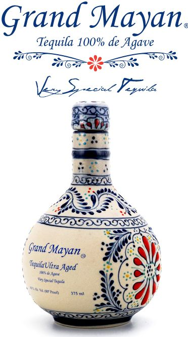 "Grand Mayan Ultra Aged Tequila bottle www.LiquorList.com ""The Marketplace for Adults with Taste!"" @LiquorListcom   #LiquorList.com"
