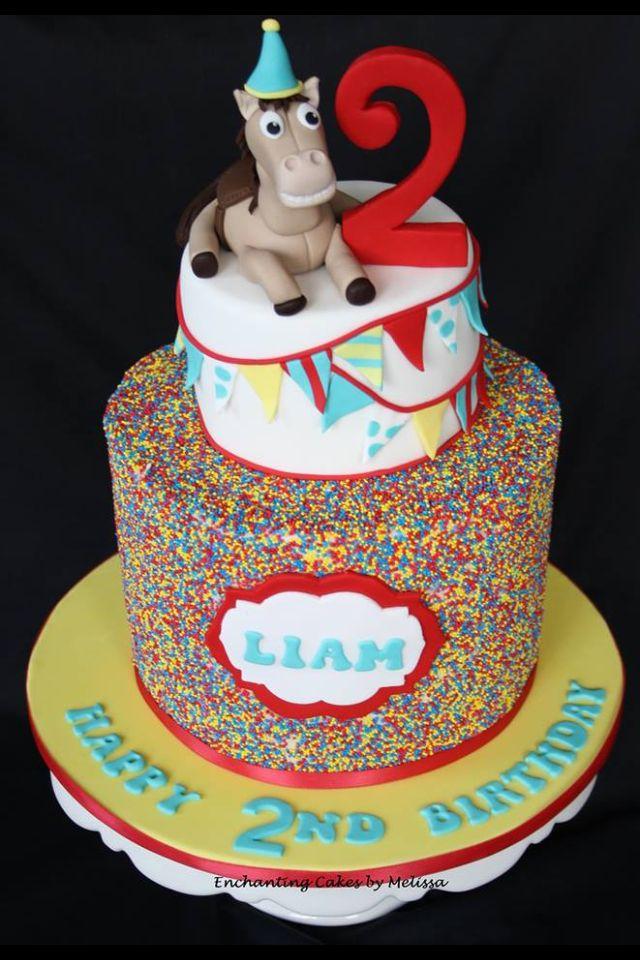 Sprinkle Cake Bottom Layer Top Layer Fondant Cake