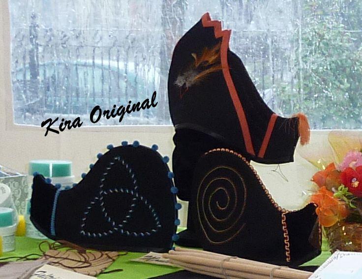 Monteras para traje regional gallego